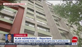Foto: Mujer Muere Caída Tlatelolco Cdmx 23 Agosto 2019