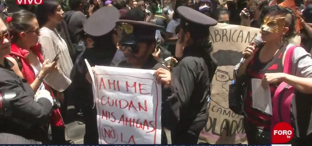 FOTO: Mujeres Protestan Frente Secretaría Seguridad Ciudadana CDMX