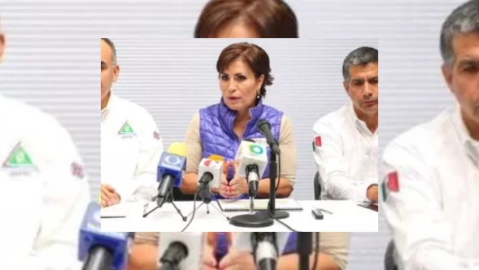 FOTO Niegan a Rosario Robles suspensión definitiva ante ordenes de aprehensión (Noticieros Televisa)