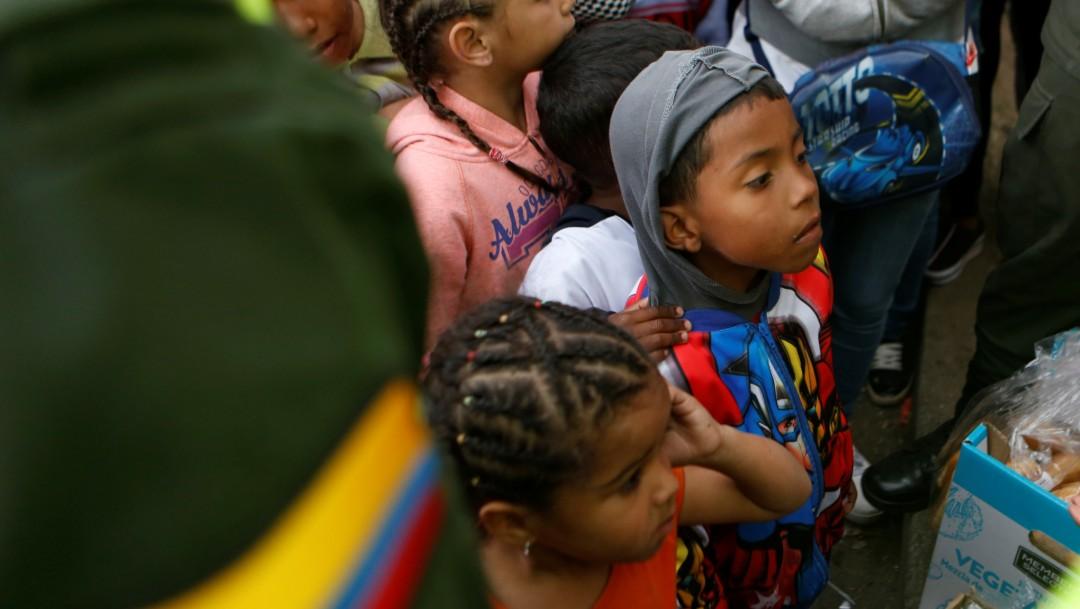 Foto: Niños venezolanos en Bogotá, 5 de septiembre de 2018, Colombia