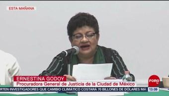 FOTO: No se permitirá violencia CDMX Procuradora Ernestina Godoy