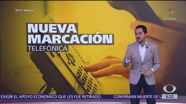 Nueva marcación telefónica en México