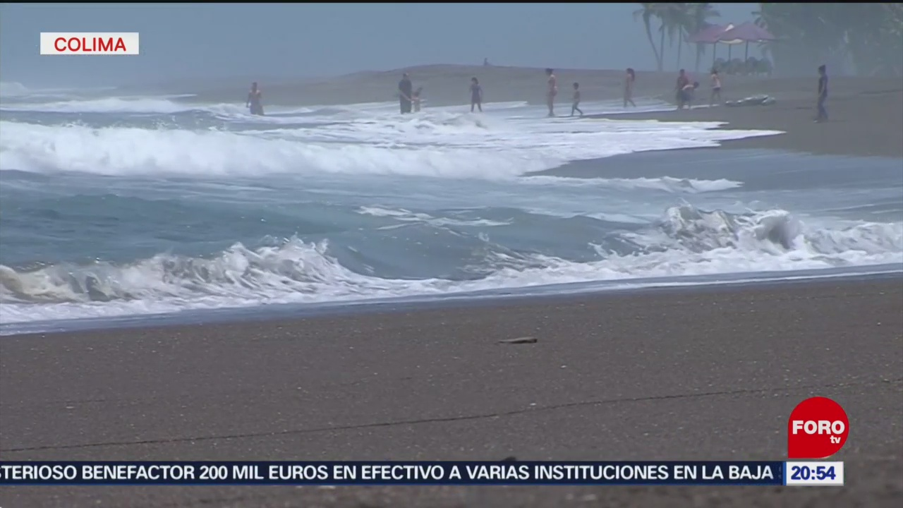 Foto: Onda Tropical Provoca Fuertes Marejadas Colima 6 Agosto 2019