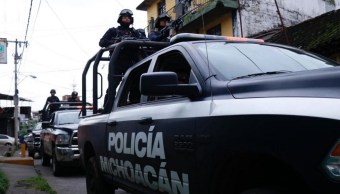 Operativo de seguridad en Michoacán.