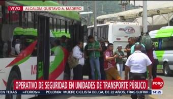 Operativo Seguridad Transporte Púbico Alcaldía GAM,