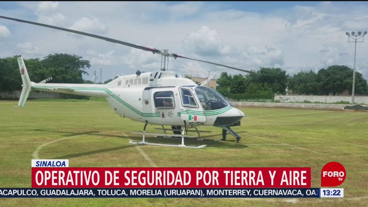 FOTO: Operativo de seguridad por tierra y aire en Sinaloa, 31 Agosto 2019