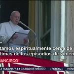 FOTO: Papa ora por fallecidos y víctimas de tiroteos en Estados Unidos, 4 Agosto 2019