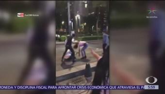 Pareja golpea a una joven en Paseo de la Reforma, CDMX