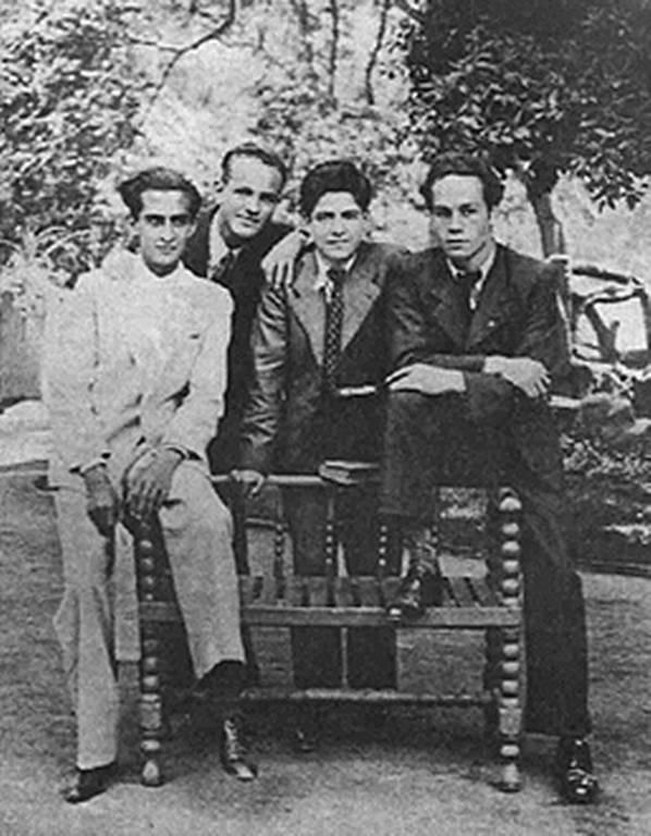 Foto:Nicanor Parra y los fundadores de la antipoesía. Septiembre 2019