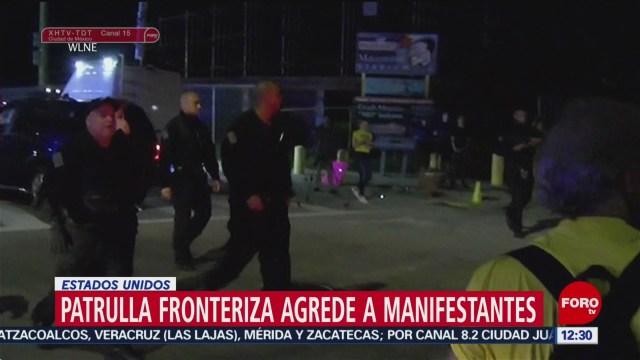 Patrulla fronteriza agrede a manifestantes Rhode Island, EU