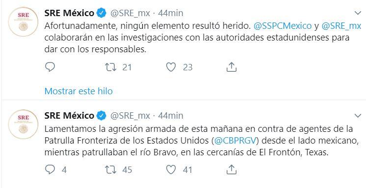 Foto Patrulla Fronteriza denuncia disparos desde lado mexicano; SRE lamenta agresión 9 agosto 2019