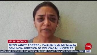Foto: Periodista Mitzi Yanet Narra Agresión Sufrió Mujeres Policías 23 Agosto 2019