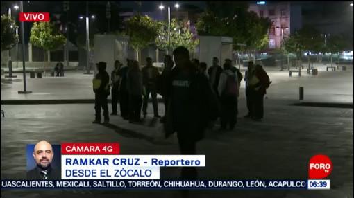 Personas se manifiestan en el Zócalo CDMX