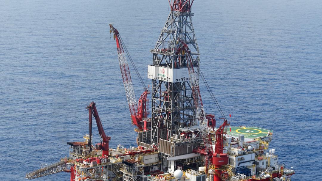 FOTO Plataforma Centenario de Pemex frente a las costas de Veracruz (AP)
