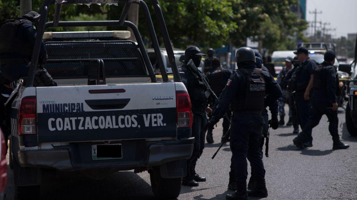 Policías de Coatzacoalcos