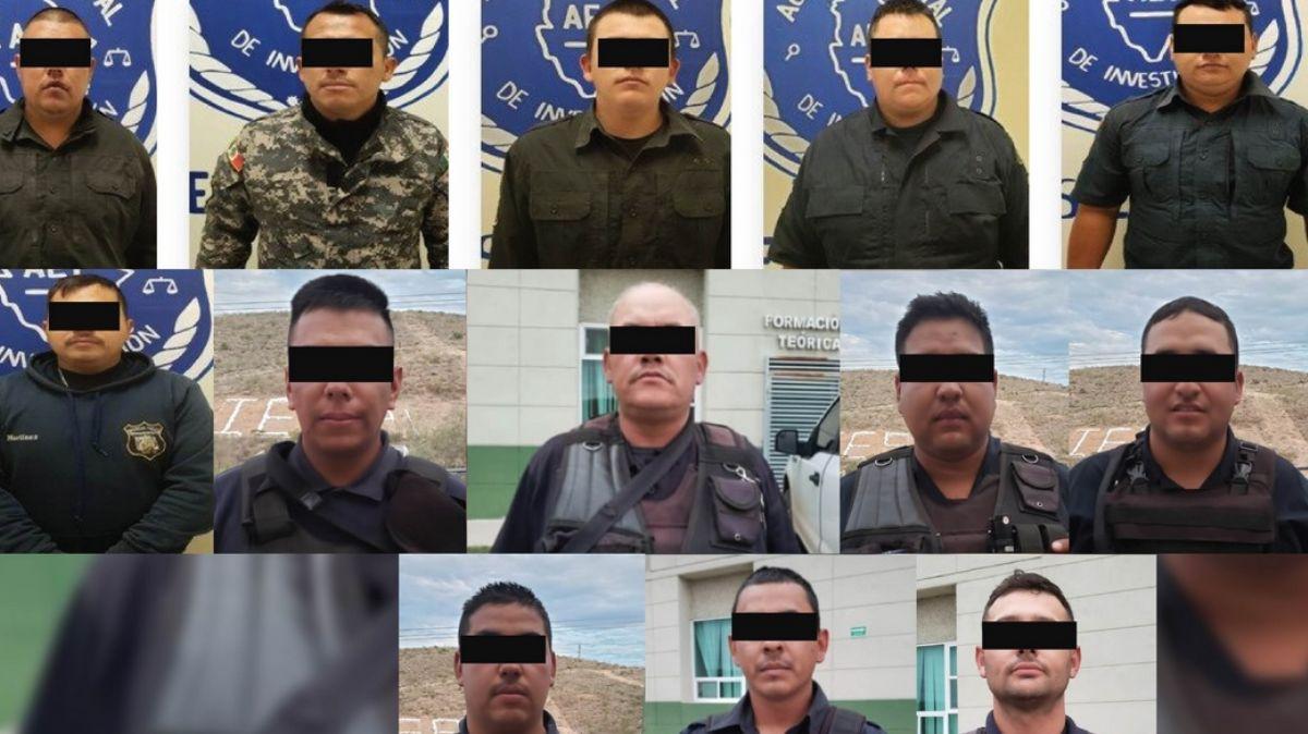 Quince policías estatales fueron detenidos.