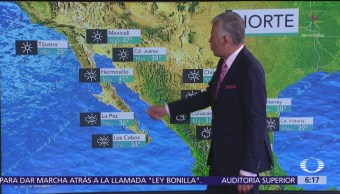 Prevén ambiente caluroso en estados fronterizos del norte de México