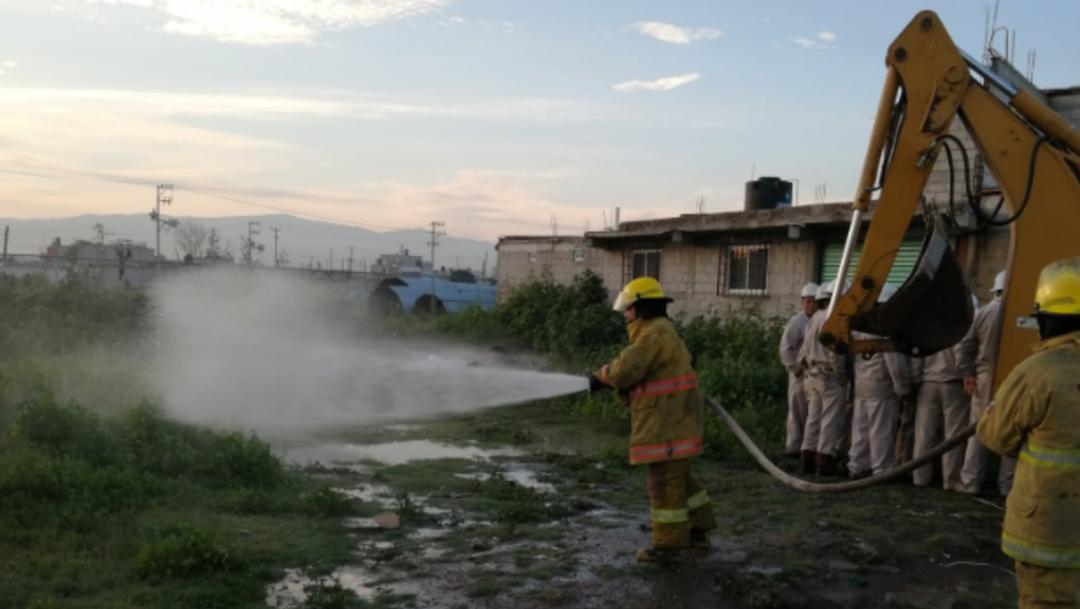 Fotos: Petróleos Mexicanos (Pemex) logró sellar la válvula y ahora siguen los trabajos de saneamiento en el sitio, 24 de agosto de 2019 (Twitter @LUISFELIPE_P)