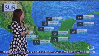 Prevén lluvias intensas en Sinaloa, Durango, Nayarit, Guerrero y Oaxaca