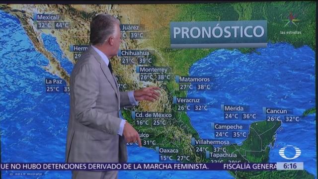 Prevén lluvias torrenciales en sur y sureste de México