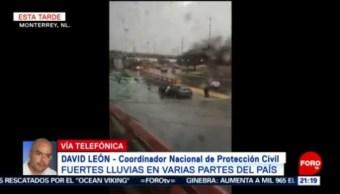 FOTO: Protección Civil Nacional monitorea afectaciones por lluvias en el país, 24 Agosto 2019