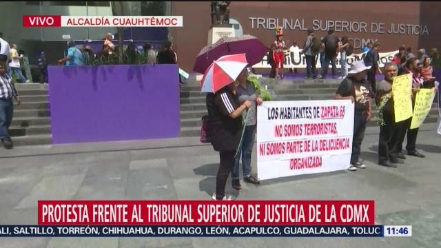 Protesta frente al Tribunal Superior de Justicia de la CDMX