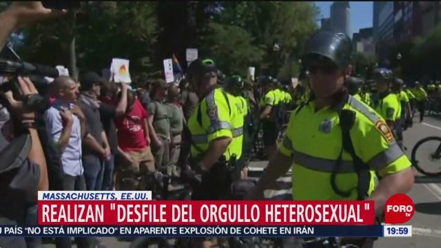 "FOTO: Realizan ""desfile del orgullo heterosexual"" en Massachusetts, EU, 31 Agosto 2019"