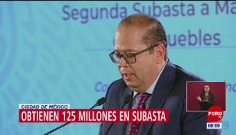 Recaudan 125.8 millones de pesos en subasta de inmuebles en Los Pinos