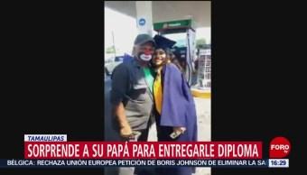 Video Recién Graduada Sorprende Papá Gasolinera Donde Trabaja