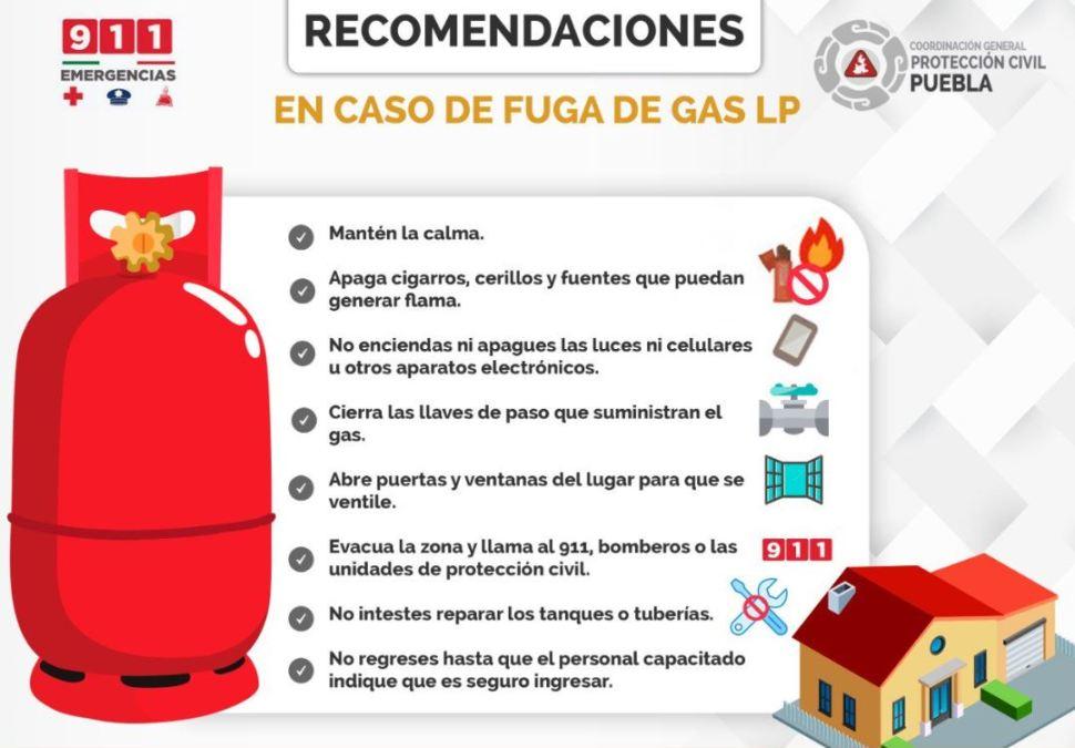 Foto Desalojan viviendas y suspenden clases por fuga de gas en Amozoc de Mota, Puebla 27 agosto 2019