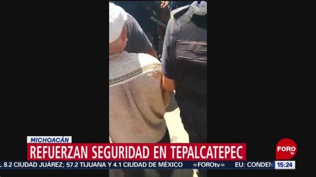 FOTO: Refuerzan seguridad tras enfrentamientos en Tepalcatepec, Michoacán, 31 Agosto 2019