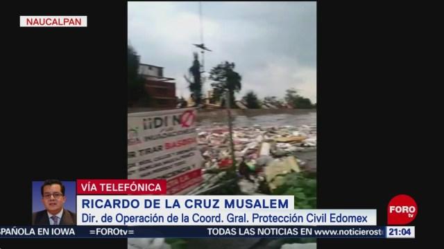 FOTO: Reportan 20 viviendas inundadas en Naucalpan tras tromba, 25 Agosto 2019