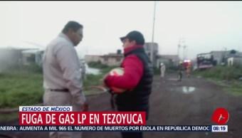 FOTO: Reportan fuga de gas LP en ejido Tequisistlán, Estado de México, 24 Agosto 2019