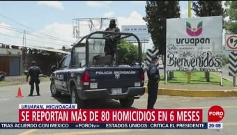 Foto: 80 Homicidios 6 Meses Uruapan Michoacán 8 Agosto 2019