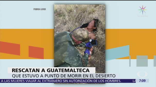 Rescatan a guatemalteca en el desierto de Arizona