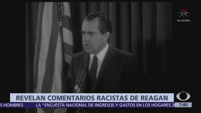 Revelan comentarios racistas de Ronald Reagan