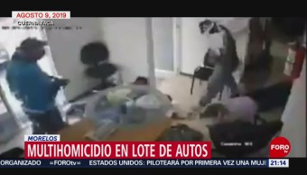 Foto: Video Momento Multihomicidio Lote Autos Morelos 15 Agosto 2019
