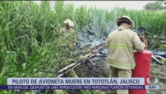 Se desploma avioneta en Tototlán, Jalisco