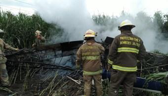 Foto Se desploma avioneta en Carrozas, Jalisco 6 agosto 2019
