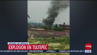 FOTO: Se registra explosión en Tultepec, Estado de México, 25 Agosto 2019