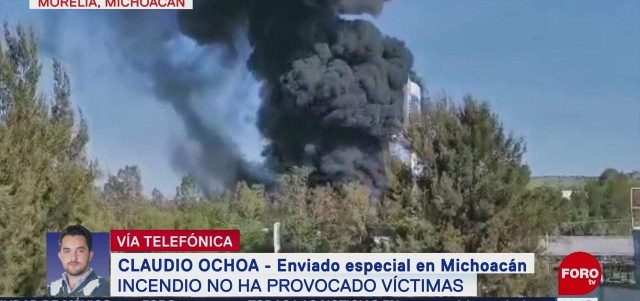 FOTO: Saldo Blanco Por Incendio Morelia Michoacán