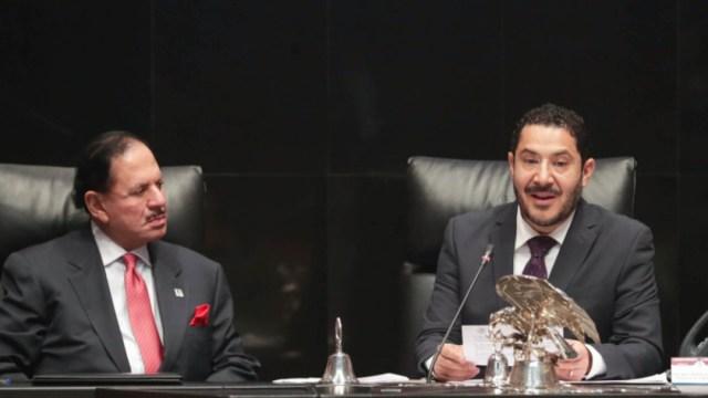 Foto: La sesión de la Comisión Permanente, este miércoles, el pleno felicitó a los atletas mexicanos que participaron en los recientes Juegos Panamericanos, 14 de agosto de 2019 (Twitter @senadomexicano)