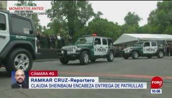 Sheinbaum entrega patrullas en Álvaro Obregón
