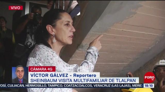 Claudia Sheinbaum Realiza Recorrido Multifamiliar Tlalpan