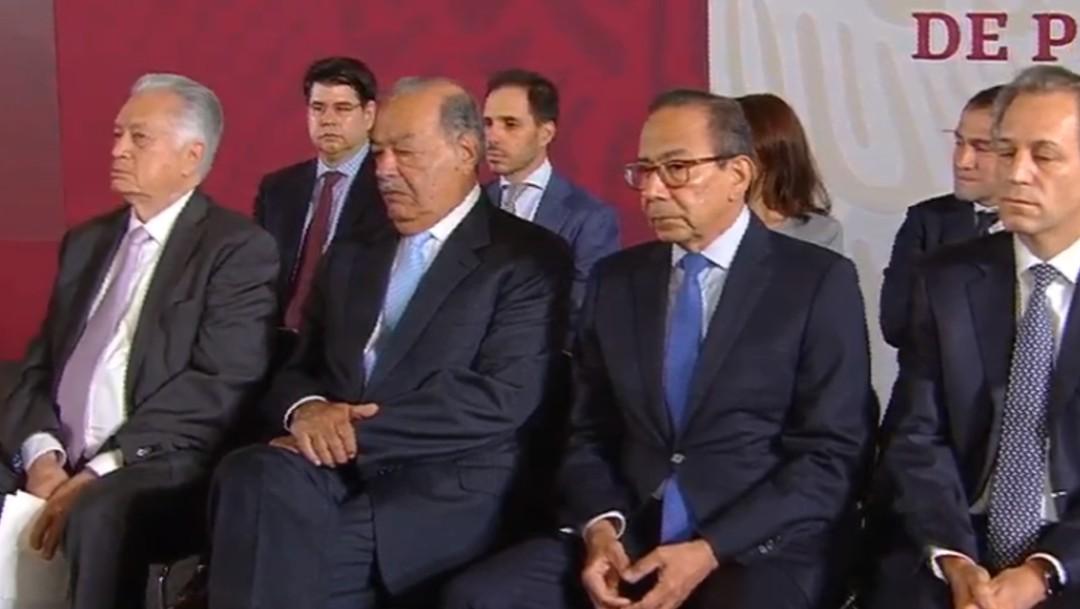 Foto: Carlos Slim y Carlos Salazar, 27 de agosto de 2109, Ciudad de México