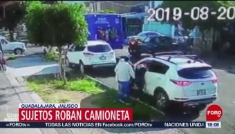 Foto: Sujetos Roban Camioneta Guadalajara Jalisco 22 Agosto 2019