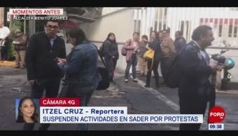 Suspenden actividades en Secretaría de Agricultura por protestas