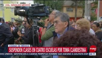 FOTO: Suspenden clases en 4 escuelas por toma clandestina en CDMX, 25 Agosto 2019