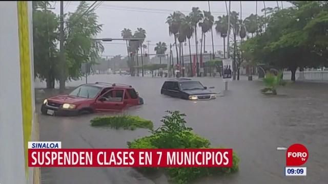 Suspenden clases en 7 municipios de Sinaloa, por lluvias
