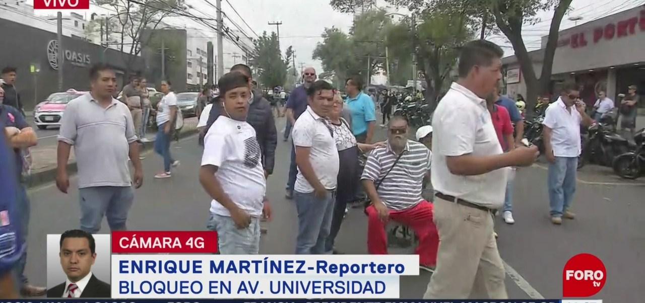 Foto: Taxistas Bloquean Avenida Universidad, Cdmx 23 Agosto 2019